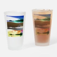 Santa Monica Pier Tricolor Drinking Glass
