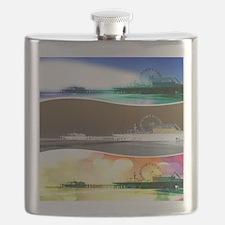 Santa Monica Pier Tricolor Flask