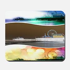 Santa Monica Pier Tricolor Mousepad