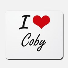 I Love Coby Mousepad