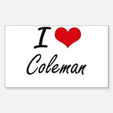 I Love Coleman Decal