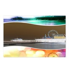Santa Monica Pier Tricolo Postcards (Package of 8)