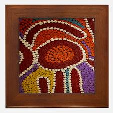 Australian Aboriginal Framed Tile