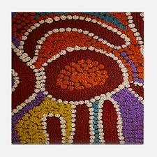 Australian Aboriginal Tile Coaster