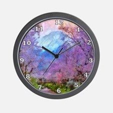Cherry Blossom Mountain Wall Clock