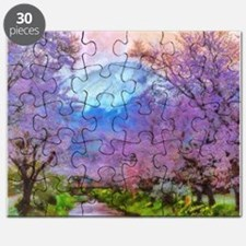 Cherry Blossom Mountain Puzzle
