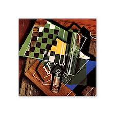 """Gris - The Checkerboard Square Sticker 3"""" x 3"""""""