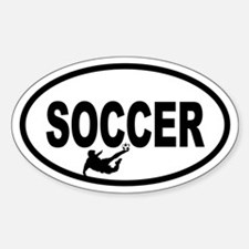Soccer Player Oval Bumper Stickers