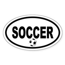 Soccer Ball Oval Stickers