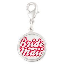 Brides Maid Silver Round Charm