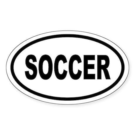 Basic Soccer Oval Sticker