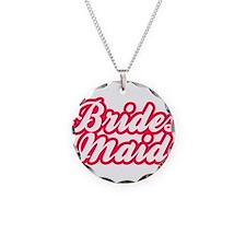 Brides Maid Necklace Circle Charm