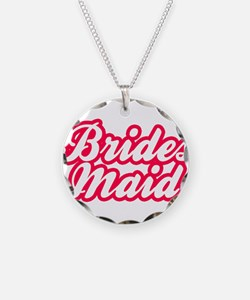 Brides Maid Necklace Circle Charm