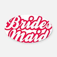 Brides Maid Oval Car Magnet