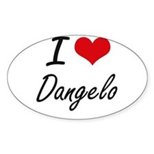 I Love Dangelo Decal