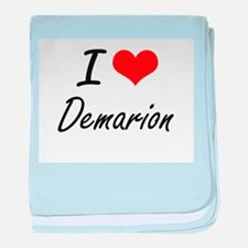 I Love Demarion baby blanket