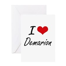 I Love Demarion Greeting Cards