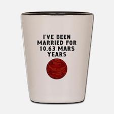 20th Anniversary Mars Years Shot Glass