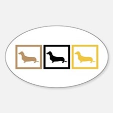 Dachshund Sticker (Oval)