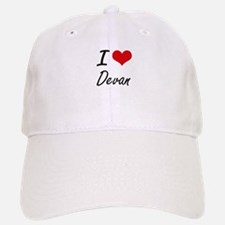 I Love Devan Baseball Baseball Cap