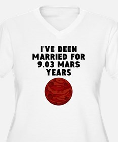 17th Anniversary Mars Years Plus Size T-Shirt