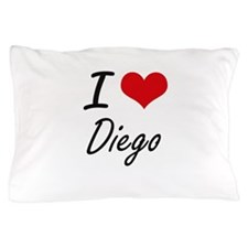 I Love Diego Pillow Case