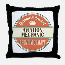 Aviation Mechanic Throw Pillow