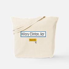 Hillary Clinton liar Tote Bag