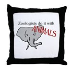 Zoologists Do It With Animals Throw Pillow
