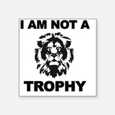"Cecil Lion Square Sticker 3"" x 3"""