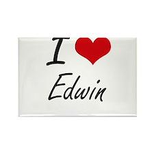 I Love Edwin Magnets