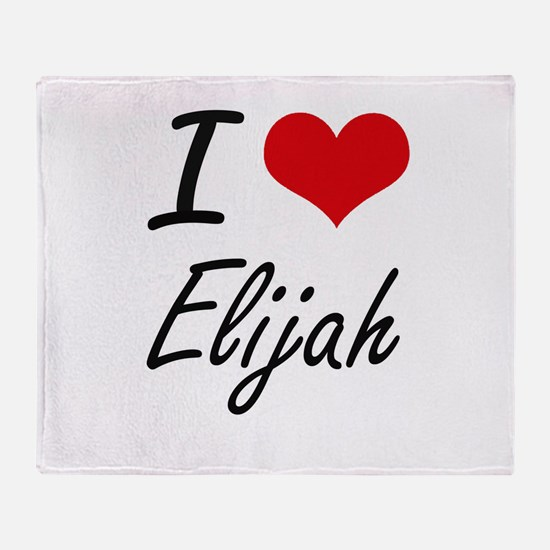 I Love Elijah Throw Blanket