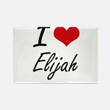 I Love Elijah Magnets