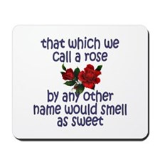 Sweet Rose Quote Mousepad