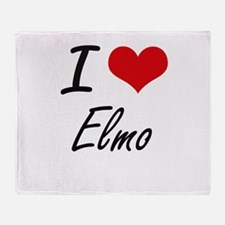 I Love Elmo Throw Blanket