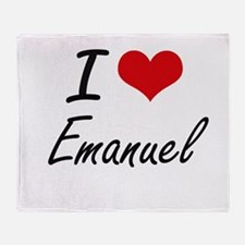 I Love Emanuel Throw Blanket