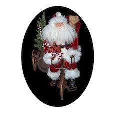 Merry christmas ya filthy animal Oval Ornament
