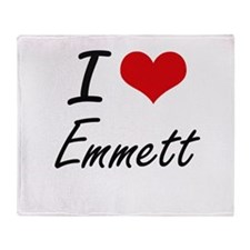 I Love Emmett Throw Blanket