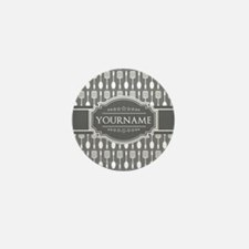 Charcoal Gray Custom Person Mini Button (100 pack)