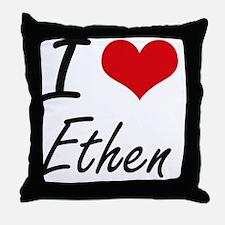 I Love Ethen Throw Pillow