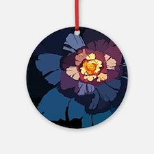 Flower-01 Round Ornament