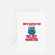 Kendall Monster Greeting Card