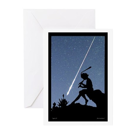 Pan Pipes - Perseids Greeting Cards (Pk of 10)