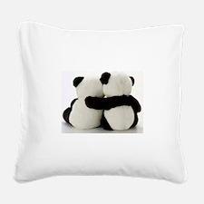 Cute Panda Square Canvas Pillow