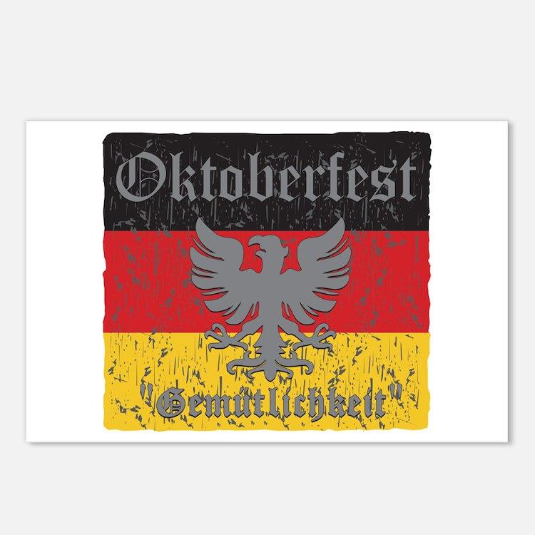 Oktoberfest Distressed Ea Postcards (Package of 8)
