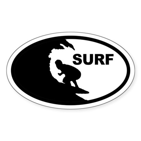 Surfer Oval Sticker