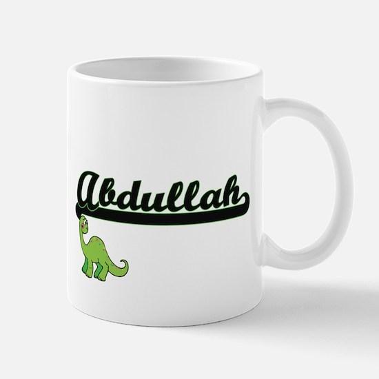 Abdullah Classic Name Design with Dinosaur Mugs