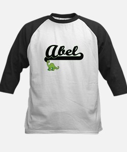 Abel Classic Name Design with Dino Baseball Jersey