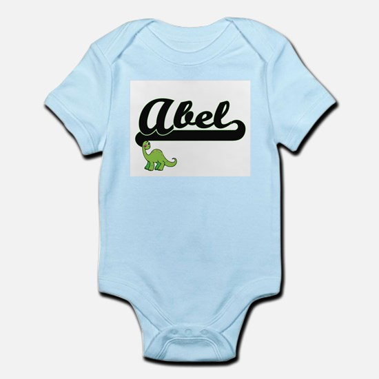 Abel Classic Name Design with Dinosaur Body Suit