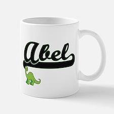 Abel Classic Name Design with Dinosaur Mugs